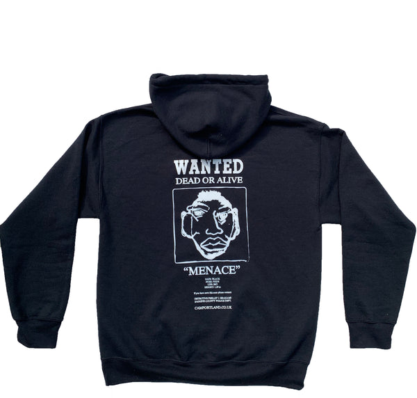 """Wanted Menace"" Hoodie (Black)"