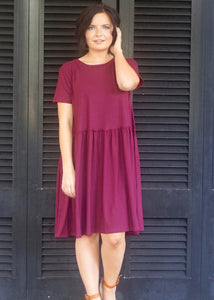 Burgundy Flow Dress - Rae Rae's Boutique