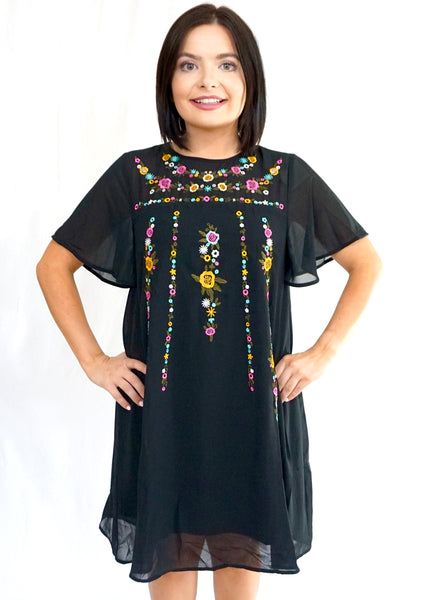 Little Embroidered Dress - Rae Rae's Boutique
