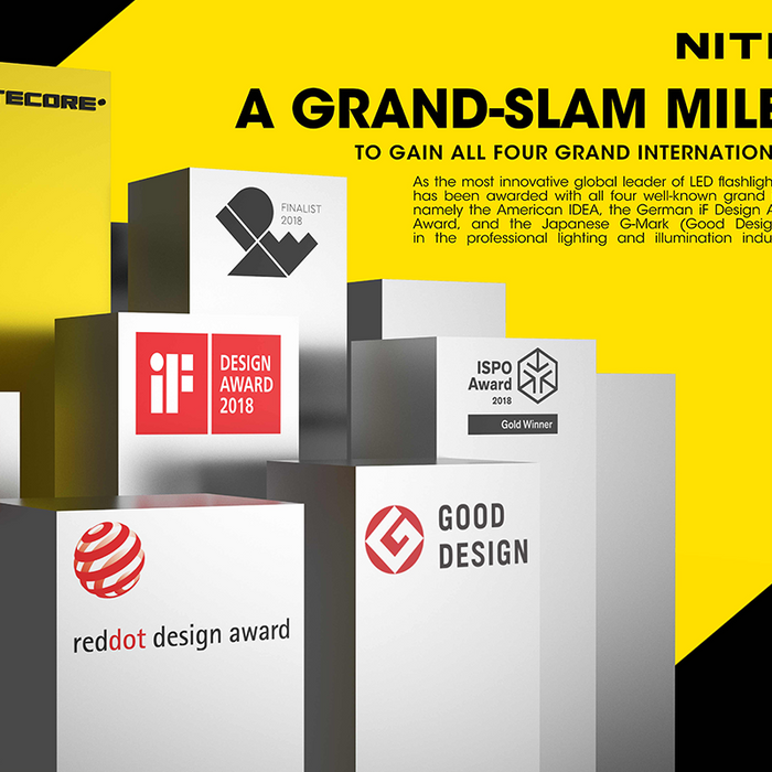 A Grand-Slam Milestone for NITECORE SRT9 to Be Named IDEA Finalist