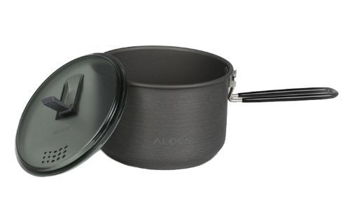 Alocs Outdoor Pot Camping Kettle Portable Camping Single Boiler