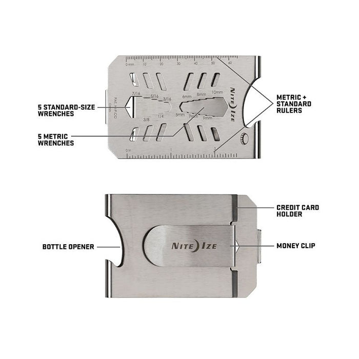 Financial Tool Multi Tool Money Clip - Stainless