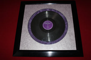 Custom framed specialty records