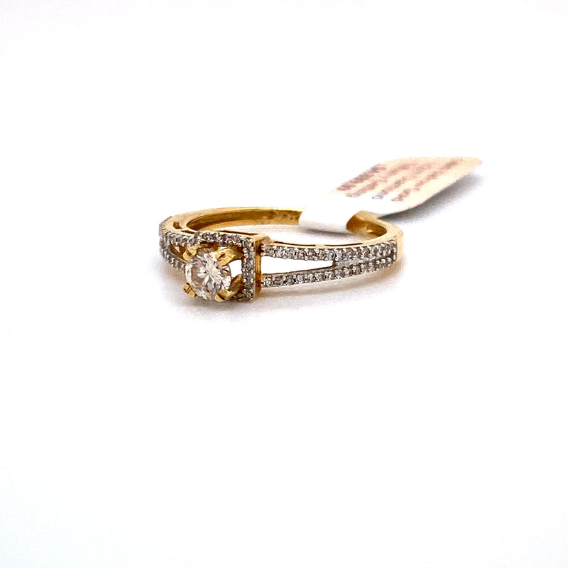 14Kt Yellow Gold 0.50CTW Solitaire Diamond Bridal Wedding Engagement Ring
