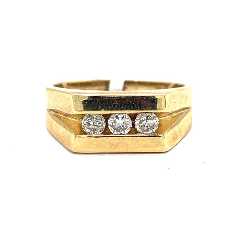 14Kt Yellow Gold .38CTW Diamond Men's Ring