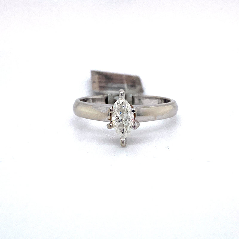 10Kt White Gold 0.50CTW Solitaire Diamond Bridal Wedding Engagement Ring
