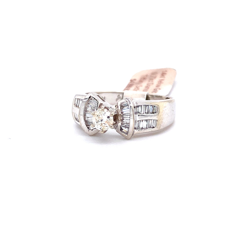 14Kt White Gold 0.79CTW Solitaire Diamond Bridal Wedding Engagement Ring