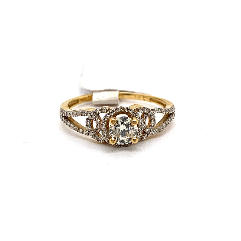 14Kt Yellow Gold 0.65CTW Solitaire Diamond Bridal Wedding Engagement Ring