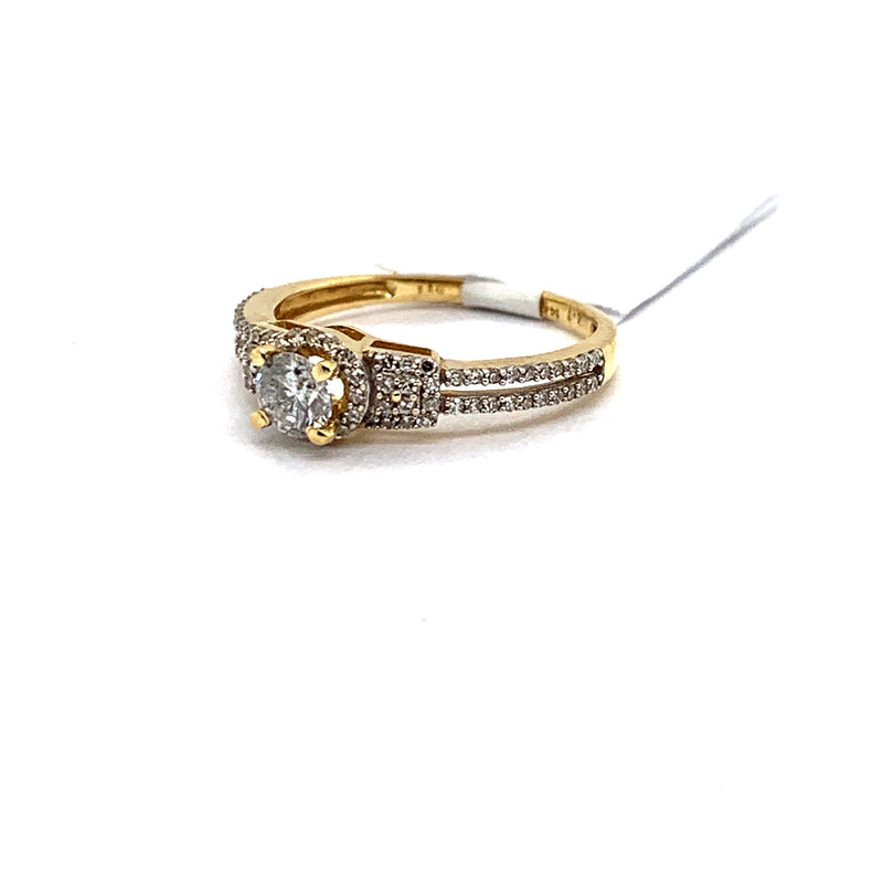 14Kt Yellow Gold 0.75CTW Solitaire Diamond Bridal Wedding Engagement Ring