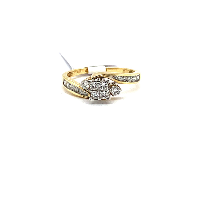 14Kt Yellow Gold 0.50CTW Diamond Bridal Wedding Engagement Ring
