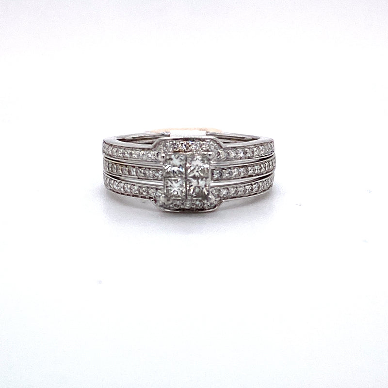 14Kt White Gold 0.75CTW Diamond Bridal Wedding Engagement Ring