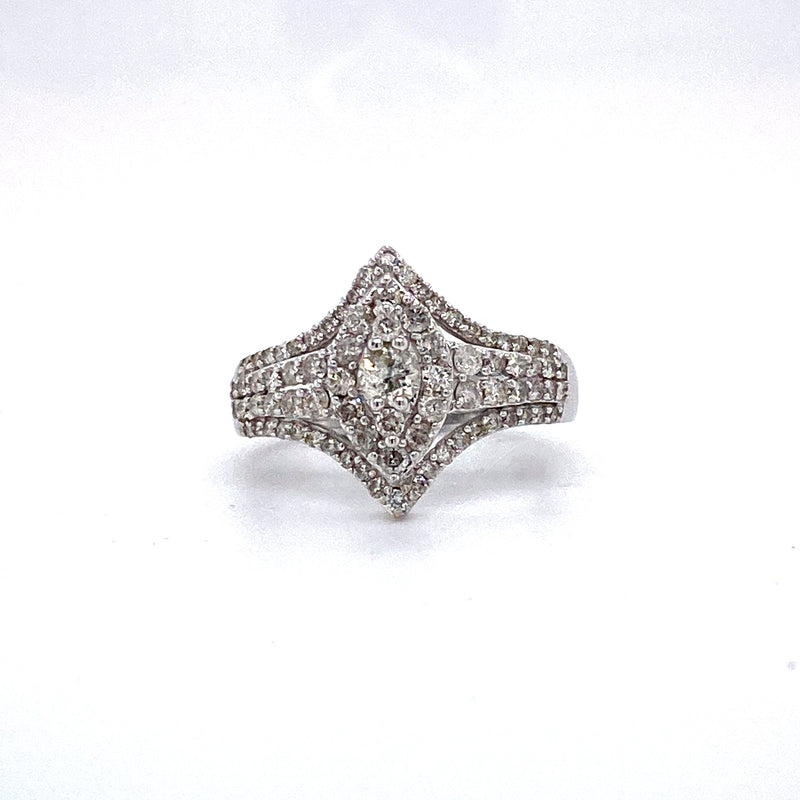 14Kt White Gold 1.00CTW Diamond Bridal Wedding Engagement Ring