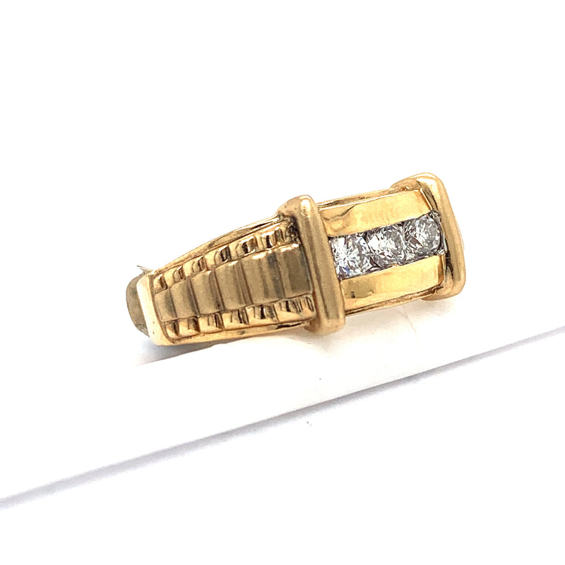 14Kt Yellow Gold .50CTW Diamond Men's Ring