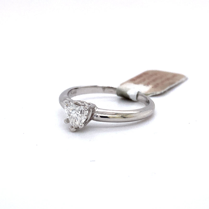 14Kt White Gold 0.50CTW Solitaire Diamond Bridal Wedding Engagement Ring