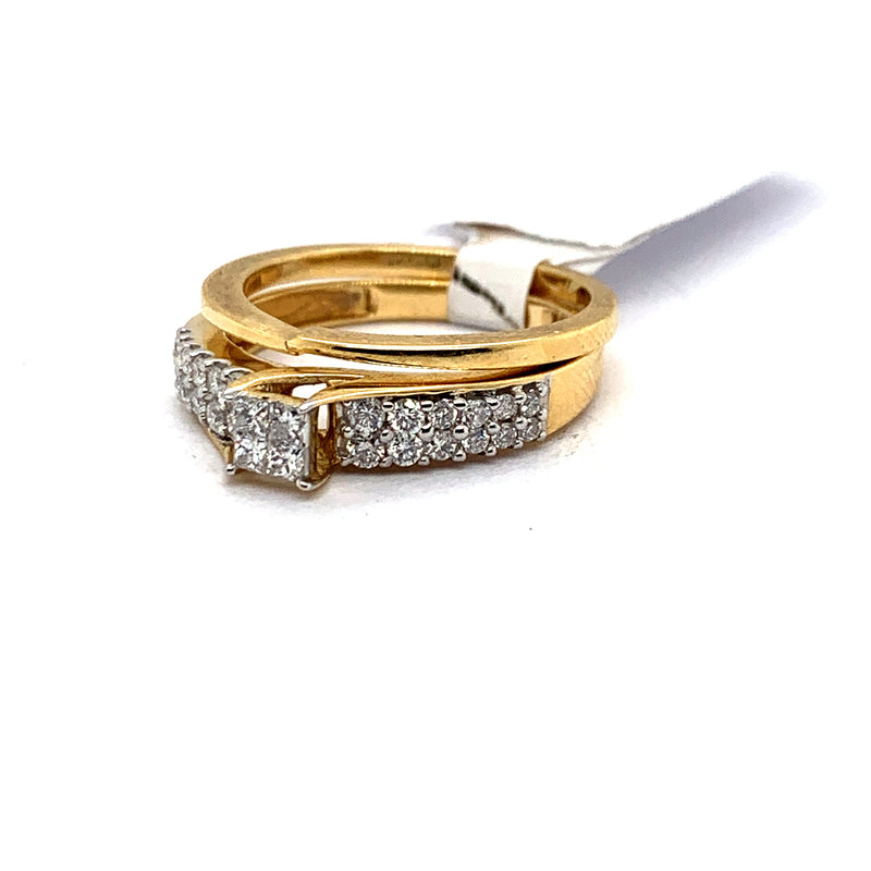 14Kt Yellow Gold 0.50CTW Diamond Bridal Engagement Wedding Ring