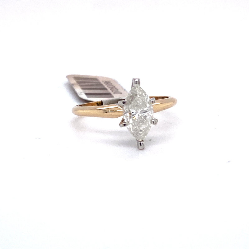 10Kt Yellow Gold 1.21CTW Solitaire Diamond Bridal Wedding Engagement Ring