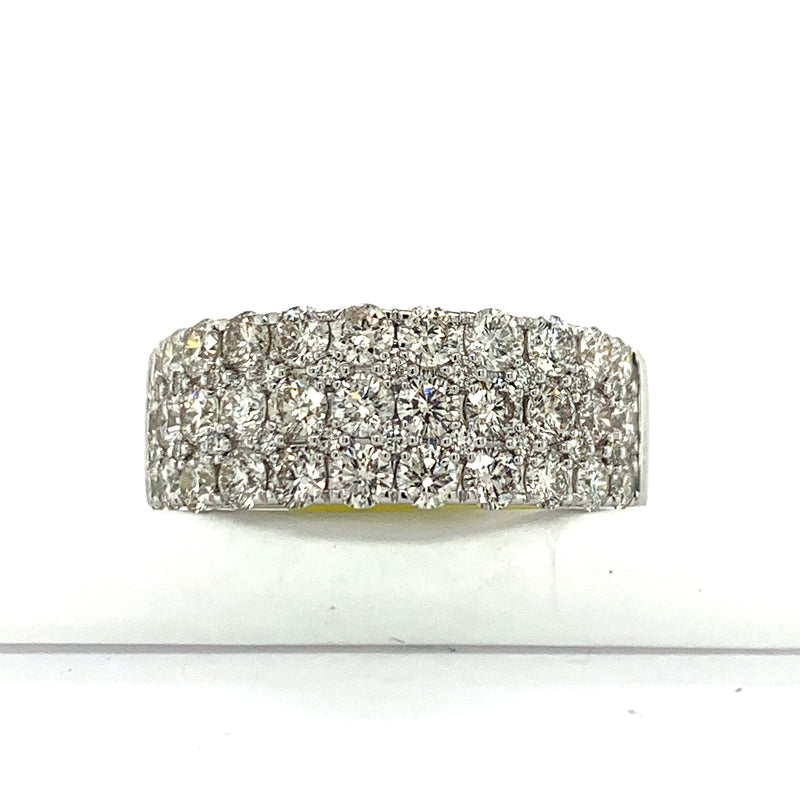 10Kt White Gold 2.30CTW Diamond Men's Semi Eternity Band