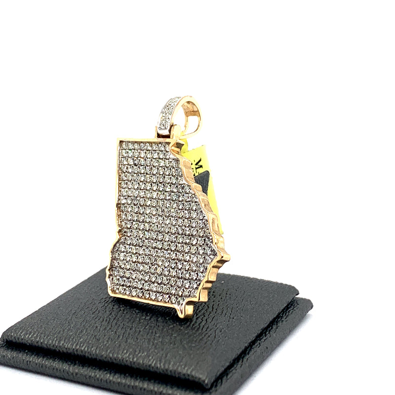 10Kt Yellow Gold Georgia Pendant 2.50CTW Diamonds