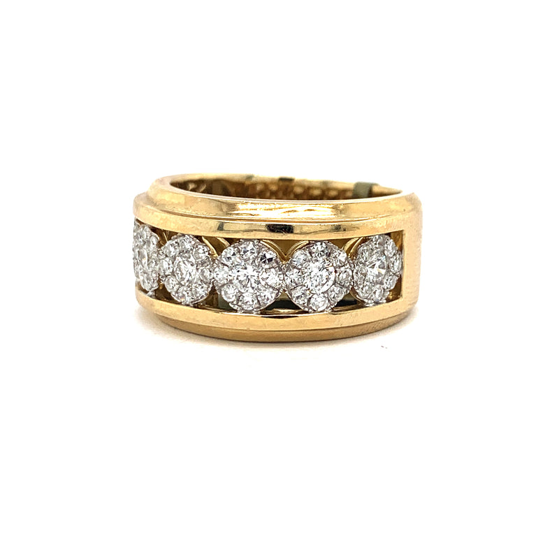 10Kt Yellow Gold 1.34CTW Diamond Men's Semi Eternity Band