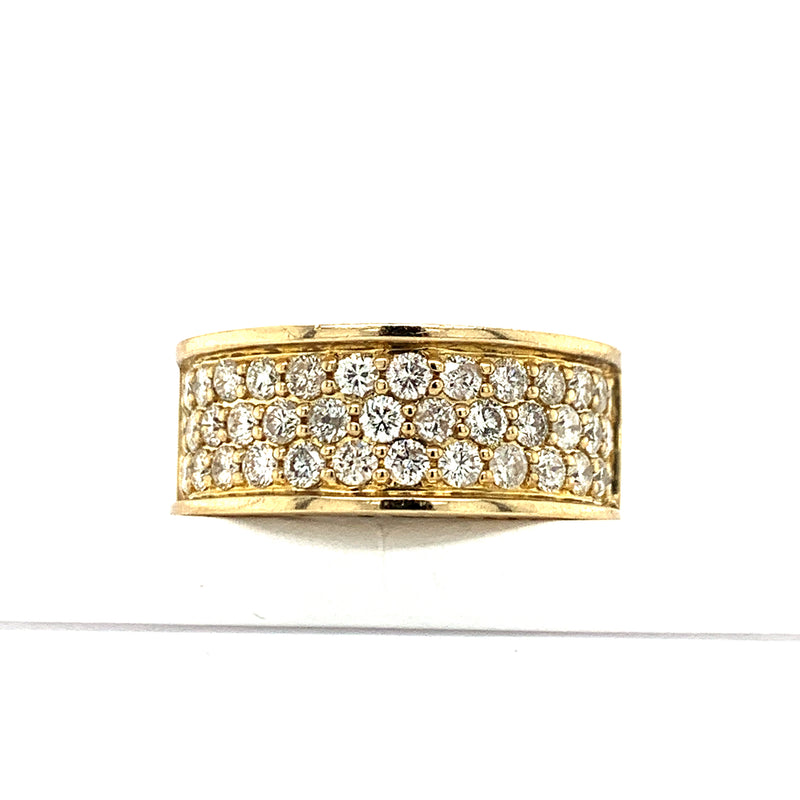 10Kt Yellow Gold 2.10CTW Diamond Men's Semi Eternity Band