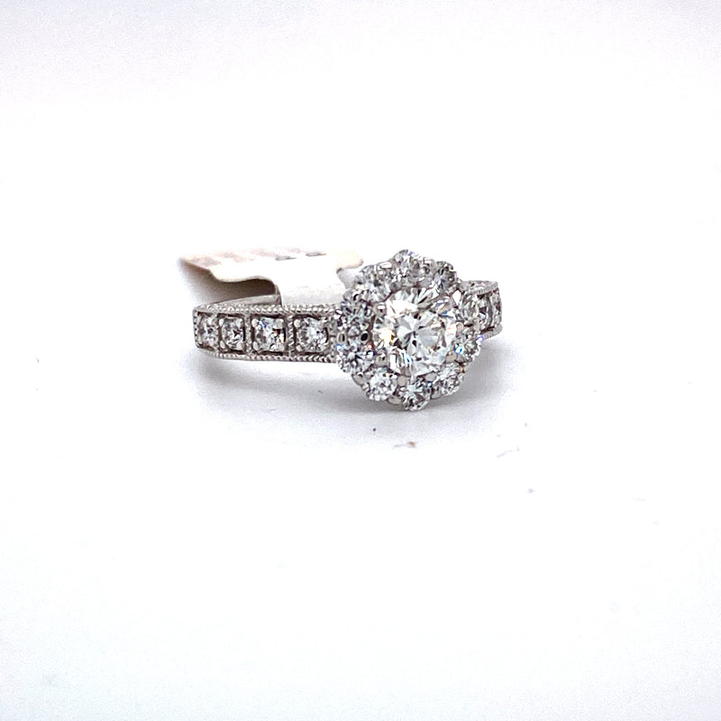 14Kt White Gold 1.70CTW Diamond Solitaire Bridal Wedding Engagement Ring