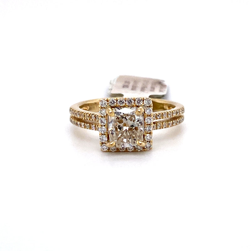 14Kt Yellow Gold 1.55CTW Solitaire Diamond Bridal Wedding Engagement Ring
