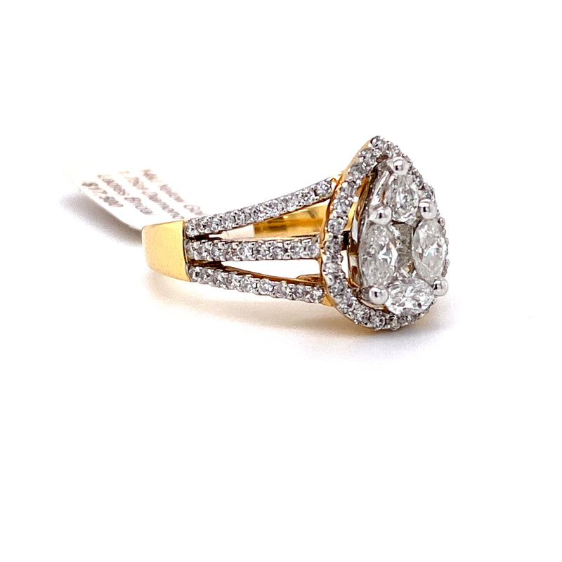 14Kt Yellow Gold 1.75CTW Diamond Bridal Engagement Wedding Ring