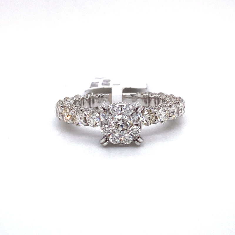 14Kt Yellow Gold 2.60CTW Diamond Eternity Bridal Wedding Engagement Ring