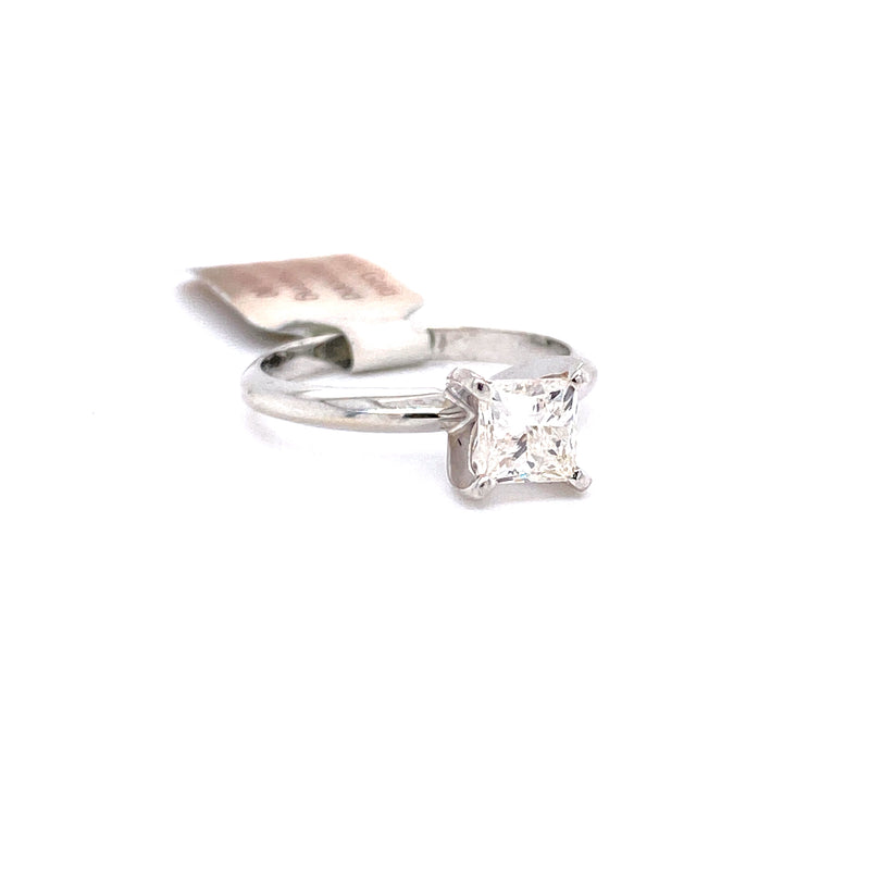 10Kt White Gold 0.95CTW Solitaire Diamond Bridal Wedding Engagement Ring