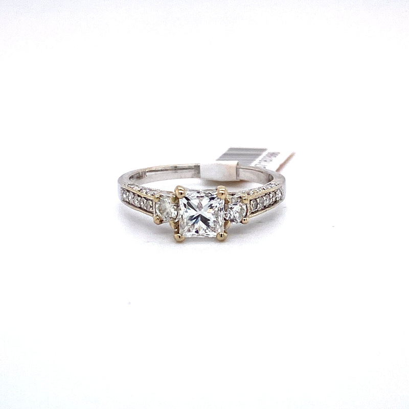 14Kt White Gold 1.31CTW Diamond Bridal Wedding Engagement Ring