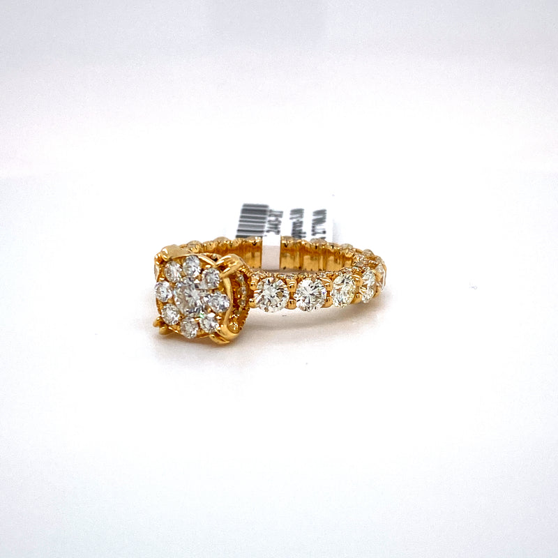 14Kt Yellow Gold 3.80CTW Diamond Eternity Bridal Wedding Engagement Ring