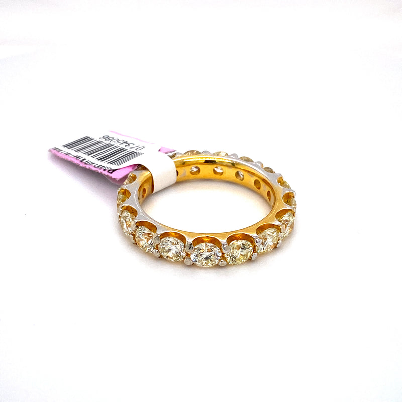 10kt Yellow Gold 5.30CTW Diamond Men's Eternity Band