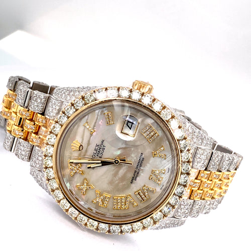 Custom Rolex 18K Gold/ Stainless Steel Datejust II 126303 41MM Two Tone Diamond Watch 24.5 Carat Total Weight