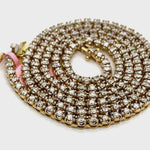 10Kt Yellow Gold Diamond Tennis Chain 8.50CTW