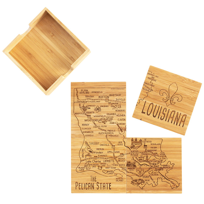Louisiana Bamboo Coasters