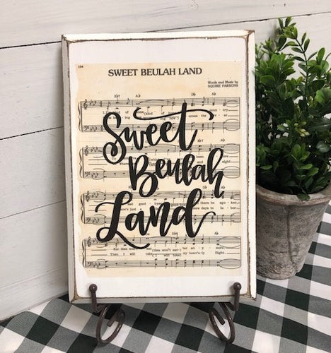 Hymn Board - Sweet Beulah Land