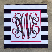 Eye Glass Cleaning Cloth - Black and White Stripe