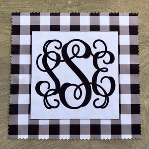 Eye Glass Cleaning Cloth - Black and White Buffalo Check