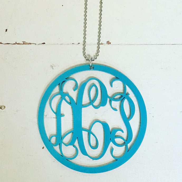 Car Charm with Monogram