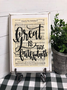 Hymn Board - Great Is Thy Faithfulness