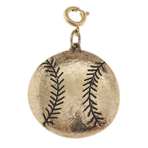 Jane Marie Antique Gold Softball Charm