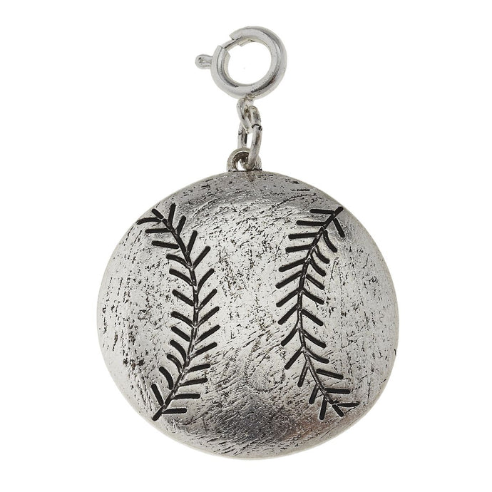 Jane Marie Silver Softball Charm