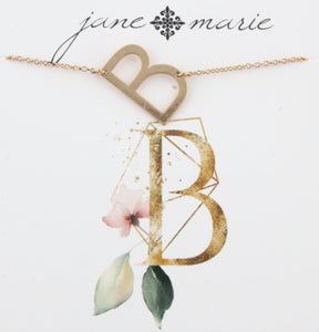 Jane Marie Initial Necklace - B