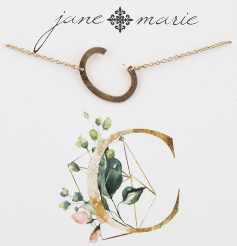 Jane Marie Initial Necklace - C