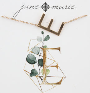 Jane Marie Initial Necklace - E