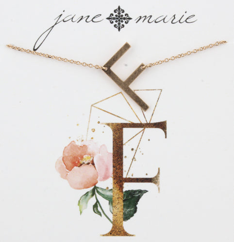 Jane Marie Initial Necklace - F