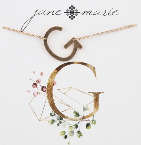 Jane Marie Initial Necklace - G