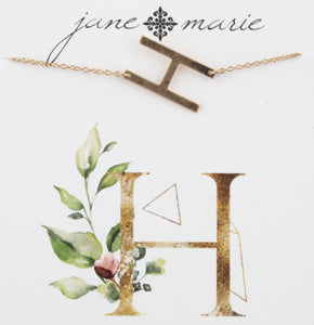 Jane Marie Initial Necklace - H