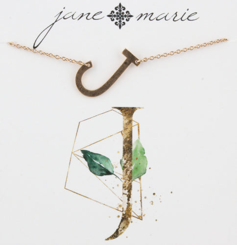 Jane Marie Initial Necklace - J
