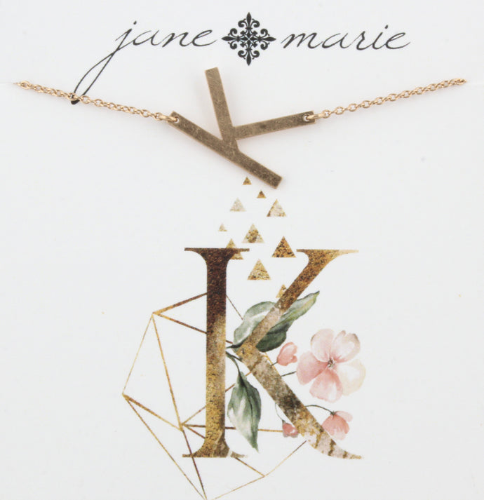 Jane Marie Initial Necklace - K